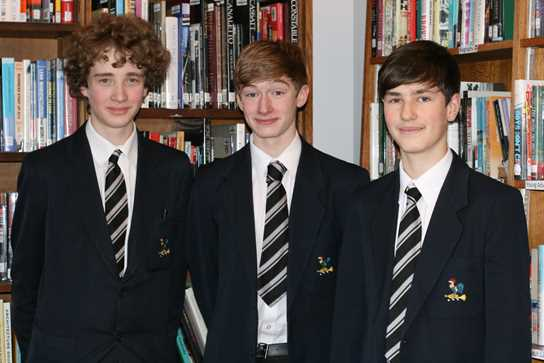 From left to right: George Blackwell, Andrew Lee and Luke Cavanaugh