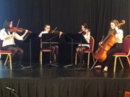 The Girls Division String Quartet performed beautifully