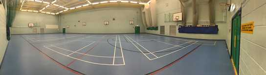 The full-size Sports Hall has just had a new floor laid