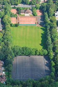 Aerial view of the Leverhulme Pavilion