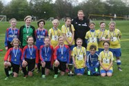 200 girls in 20 teams took part in the Year 5 and 6 Competition, Eagley came out on top