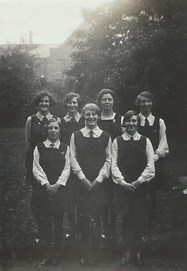 The 1930 Netball Team - Nora is on the far left of the front row