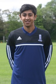 Haseeb wears his England shirt with pride