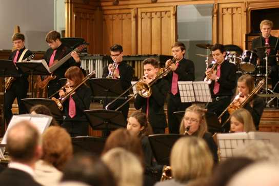 The Jazz Band brought the evening to an energetic and upbeat close