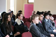The Sutcliffe Suite was filled with interested students