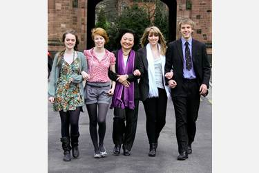 Kim Phuc and Bolton Sixth Form students
