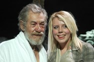 Sir Ian McKellen and Bolton School student