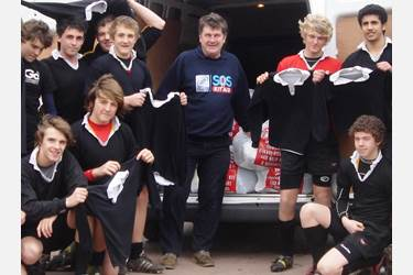 Boys hand over the sports kit