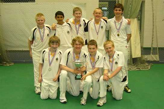 The U13 Cricketers are County Indoor Champions