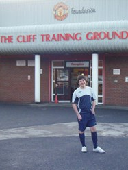 James outside The Cliff Training Ground