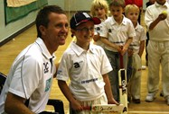 Dominic Cork signs autographs