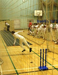 Dominic Cork in the nets