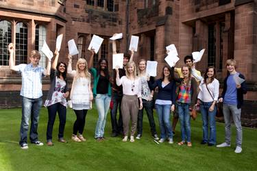 Students celebrate their excellent results