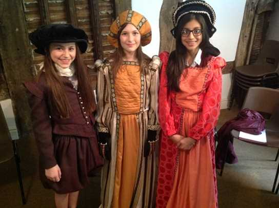 Dressing up in Tudor clothing