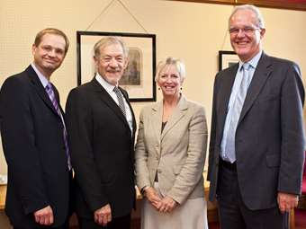 Sir Ian meets the Chairman of Governors, the Headmaster and the Headmistress
