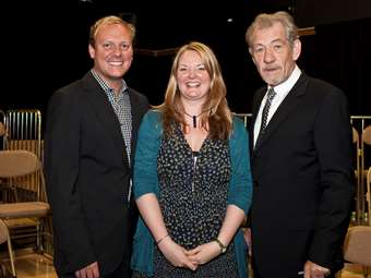Miss Liptrott with Sir Ian and Anthony Cotton