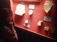 The girls found the museum artefacts really interesting