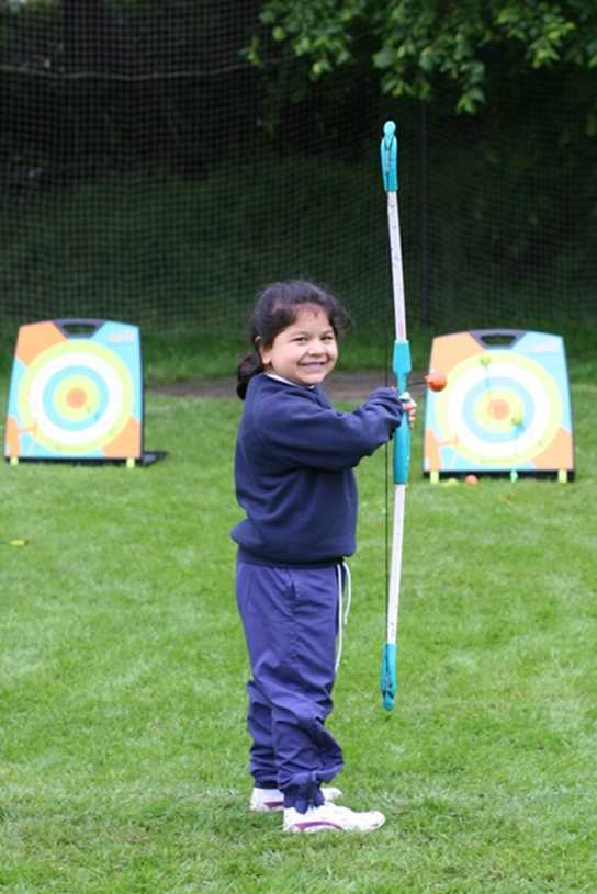Archery was a favourite activity too