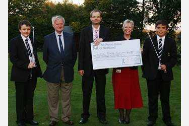 Cheque Handover from the Old Boltonians