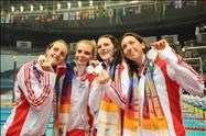England 4x100m freestyle relay team
