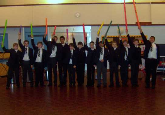 The Year 9 Percussion Ensemble