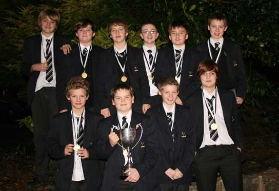 The Under 13s water polo team