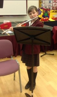 Samantha Schofield (Year 6) performs as part of the Instrumental Day