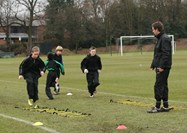 Boys train with Bolton Wanderers coaches