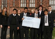 BLGC and Senior Boys with cheque