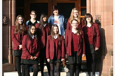 Year 9-12 girls who took park in the Classics Competition