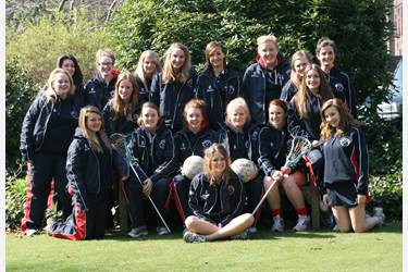 The Senior Lacrosse and Netball teams