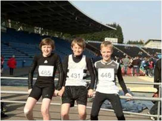 Junior boys biathlon team