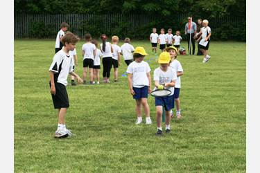 Year 7 boys helped out with the running of the event