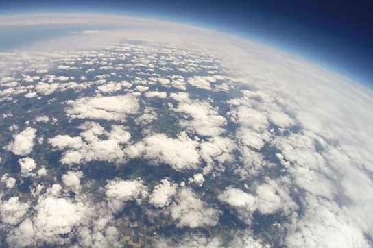 An amazing view of the curvature of the Earth