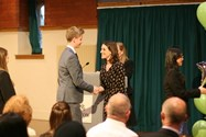 Pupils received their certificates from Old Girl Nicola Grinstead
