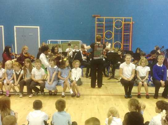 The Joint Junior Orchestra played at Castle Hill Primary