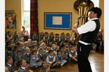 The Travelling by Tuba show captivated the Beech House audience
