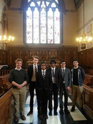 The boys were also able to see the interior of the chapel at Balliol College