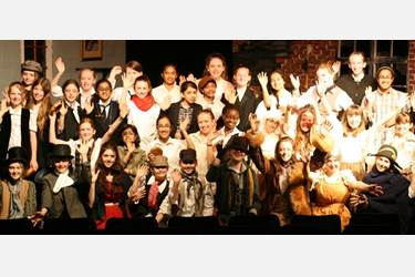 The cast of Oliver Twist
