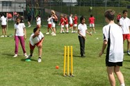 Pupils test their bowling skills