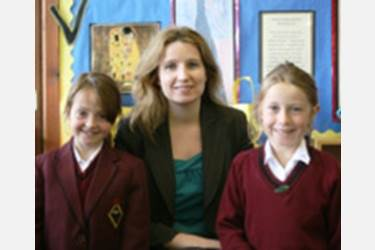 Girls welcome Miss Sergeant to Bolton School