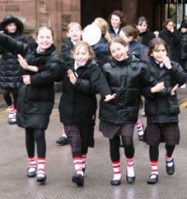 Junior girls raised over 400 pounds for Sports Relief through their walk around the grounds