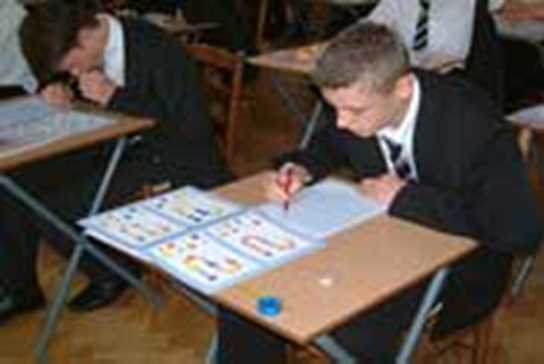 senior boy sitting morrisby profile exam