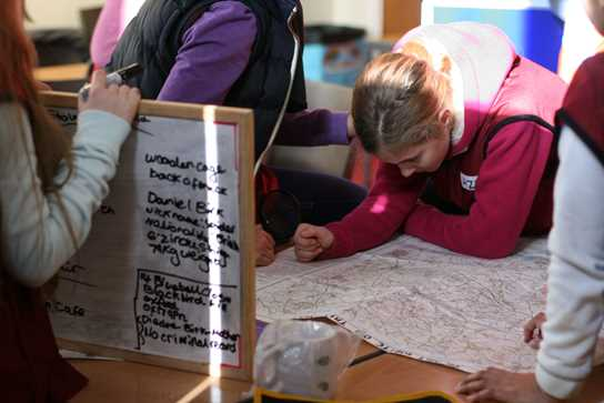 Poring over the map and collating evidence for the Gorilla Kidnap