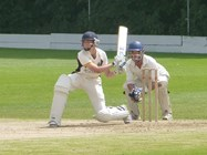 A Bolton School pupil batting against the XL Club