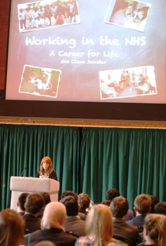 Mrs Clare Inkster delivered the morning's keynote address
