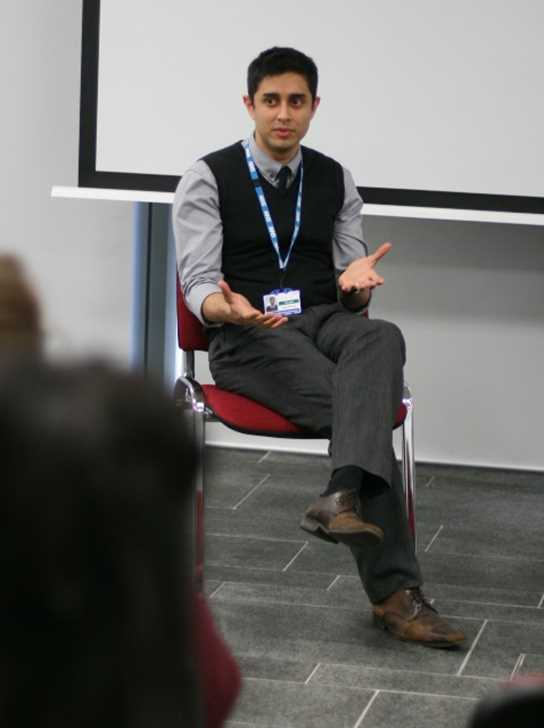 Old Boy Makrand Gore spoke about life as a Pharmacist