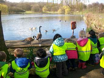 We loved feeding the ducks