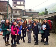 A group of Year 9 girls set out from Patterdale Hall