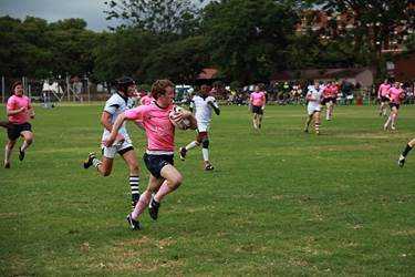 Sam bursts through against the Harare Lions